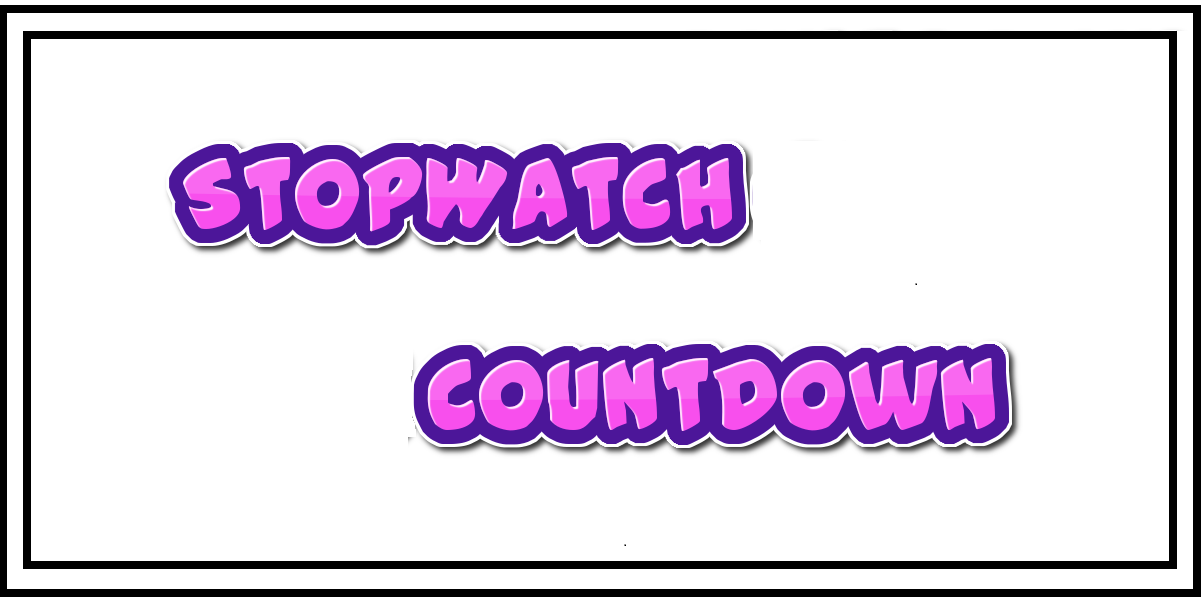Online Stopwatch And Online Countdown Timer